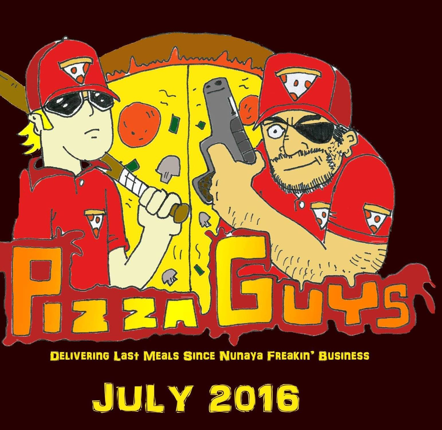 assassins, pizza guys, funny stories, short story, confidence, bath house, being brave